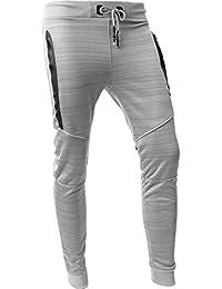 VW Mens Jogger Pants Biker Slim Fit Casual Fleece Active Elastic 1VWA5001-18