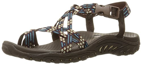 Skechers Reggae-Zehe-Ring Sandale Chocolate/Blue