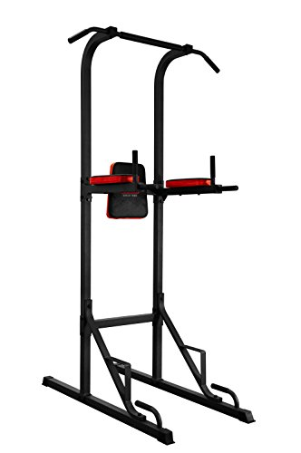 Body Sculpture Unisex's Multi-Function Power Tower, Black/Red