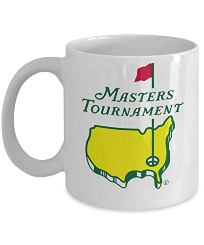 Masters Green Coffee Mug (White) 11oz - Masters Tournament Coffee Mug - Masters Golf Mug - Masters Green Mug