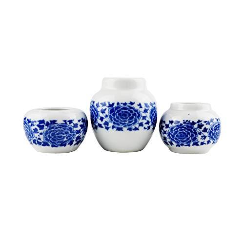 (OMEM Bird Mini Ceramic Feeder(3 Pack),Bird Ceramic Food and Water Mini Bowl)