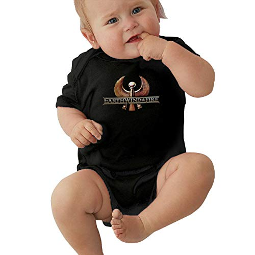 Earth Wind & Fire Unisex Baby Boy Girl Bodysuits Short Sleeve Infant Cotton Clothes for 0-24 Month 12M Black]()