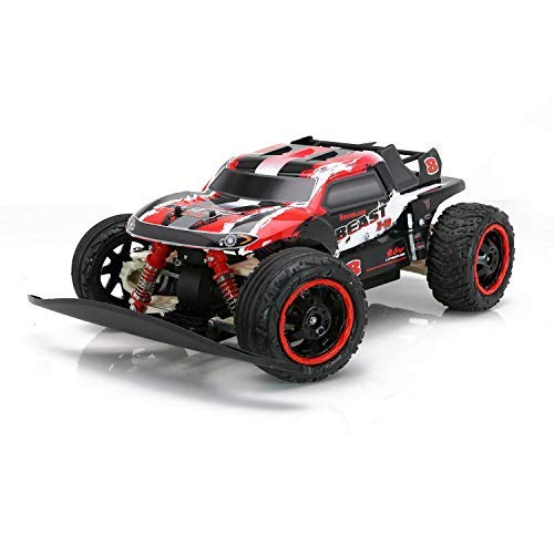 RC CHARGERS Brushless Remote Controlled RC Truck, 1:10 Scale Brushless Motor | 20 MPH, Strong Suspension, Off-Road Capable, 2.4GHz, Pistol Grip Control | 9.6v Battery and Charger Included Beast