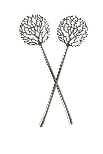 Quest Collection Silver Coral Salad Servers ()