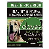 Dave's Pet Food Beef and Rice Food (12 Cans Per Case), 13.2 oz. For Sale