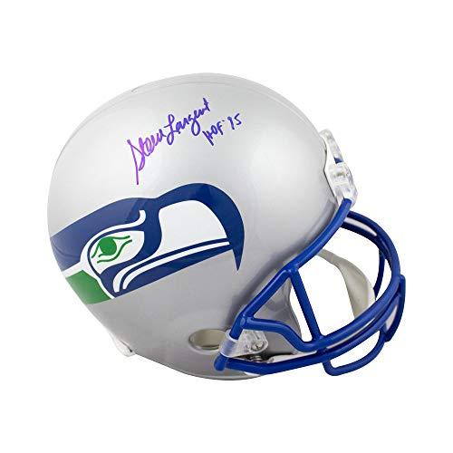 (Steve Largent HOF Autographed Seattle Seahawks Full-Size Football Helmet - JSA COA)