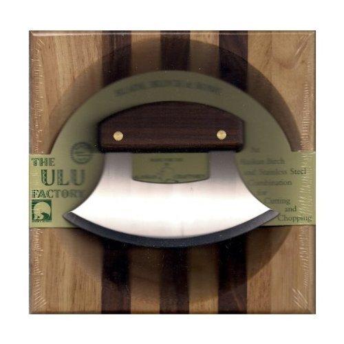 8'' Block with Deep Dish Chopping Bowl and Walnut Handled Ulu