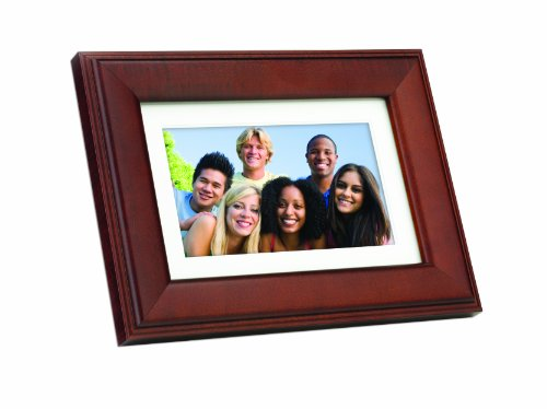 GiiNii GN-705W 7-Inch Artforme Digital Picture Frame with Real Wood Frame (Brown)
