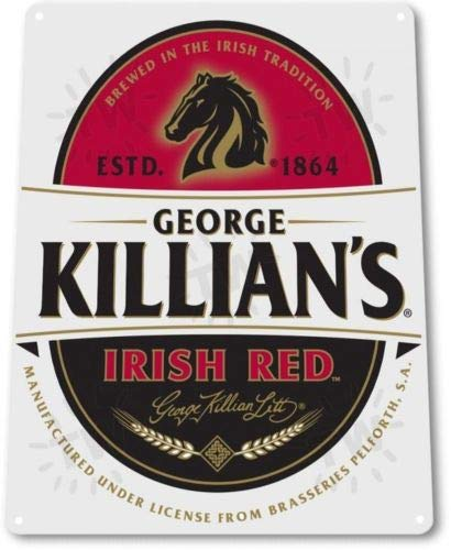 ShopForAllYou Vintage Decor Signs Killians Irish Red Beer Logo 1864 Distressed Retro Wall Decor Metal Tin Sign New ()
