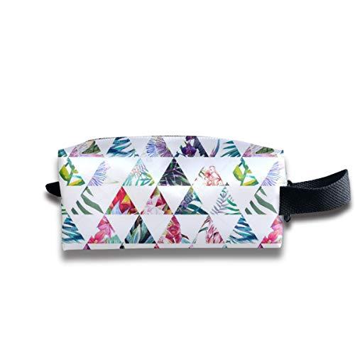 Szipry Cosmetic Bag Travel Handbag Clip Art Prints Womens Girls Toiletry Bag Zipper Wallet with Wrist Band