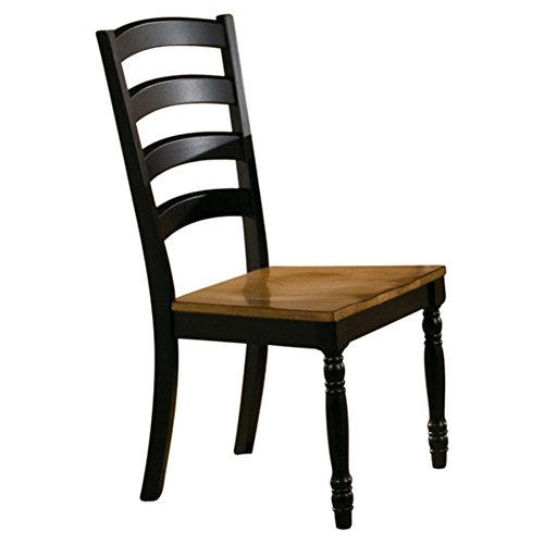 Courtdale Ladder Back Side Chair (Set of 2), Dining Chair, Almond / Ebony