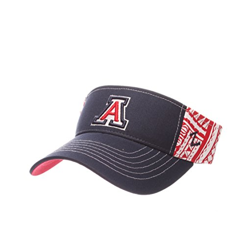 NCAA Arizona Wildcats Adult Men's Hanauma Visor, Adjustable Size, Team Color -