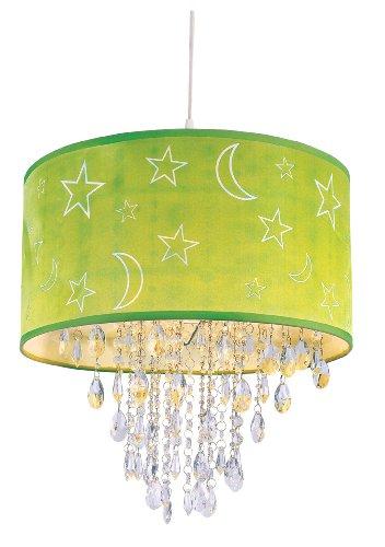 Green Star Pendant Lighting - Trans Globe Lighting PND-1001 GRN 15-Inch Moon And Stars Pendant, Green