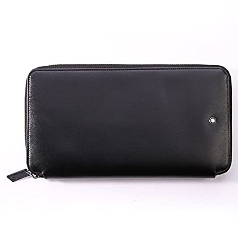 Montblanc viaje monedero billetera, Negro: Amazon.es: Equipaje