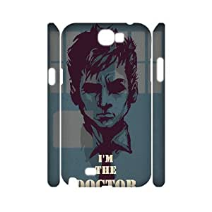 3D Vety Im the Doctor Samsung Galaxy Note 2 Case, Samsung Galaxy Note 2 Case Girl {White}