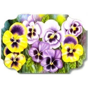 - Pansies Paper Placemats 50 Per Pack