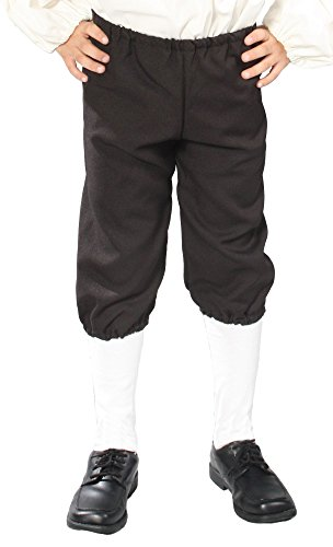 Alexanders Costumes Kids Knicker Pants, Black, Small (Colonial Pirate Costume)