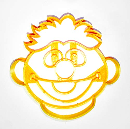 - ERNIE FACE SESAME STREET MUPPET CHARACTER LOVES RUBBER DUCKIE KIDS TV SHOW SPECIAL OCCASION COOKIE CUTTER BAKING TOOL 3D PRINTED MADE IN USA PR2251