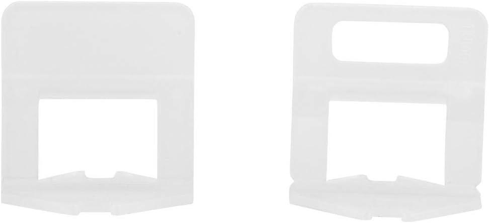 100 Unids Alineaci/ón de Azulejos Azulejos Nivelaci/ón Spacer Clips de Pl/ástico Instalaci/ón de Baldosas para Pro y DIY Wedge No Incluido 2.0MM