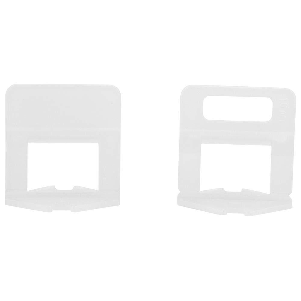 100 Unids Alineació n de Azulejos Azulejos Nivelació n Spacer Clips de Plá stico Instalació n de Baldosas para Pro y DIY Wedge No Incluido(2.0MM) Garosa