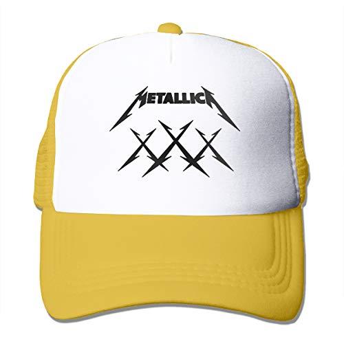 Ufc Embroidered Beanie - Kooiico Metallica Outdoor Mesh Hat Tour Snapback Hat Adjustable Yellow