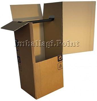 1 unidad - Cajas armario para mudanza, para transportar la ropa, de doble onda de 50 x 50 x 120 cm: Amazon.es: Bricolaje y herramientas