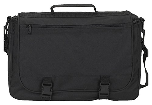 Gemline Executive Saddlebag Messenger Bag M2400 Black - 600 Denier Polyester Portfolio