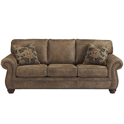 Flash Furniture Signature Design by Ashley Larkinhurst Sofa in Earth Faux Leather