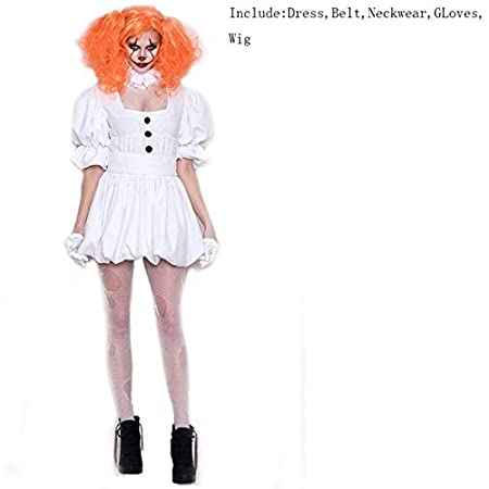 AHJSN Blanco Stephen KingS It Cosplay Traje Adulto ...