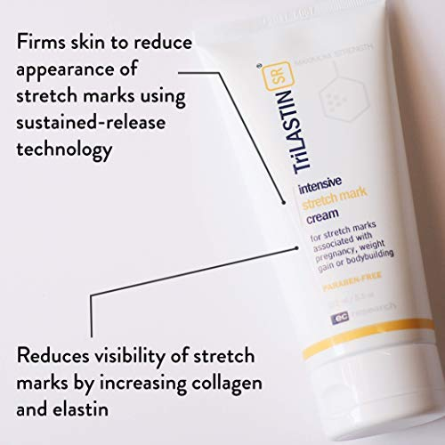 Amazon Com Trilastin Sr Maximum Strength Stretch Mark Cream Unscented 5 5 Fl Oz Hypoallergenic Paraben Free Formula Maternity Skin Care Products Beauty