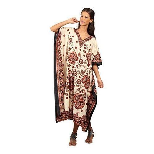 New Ladies Tribal EthnicPrint Kaftan Kimono Free Size