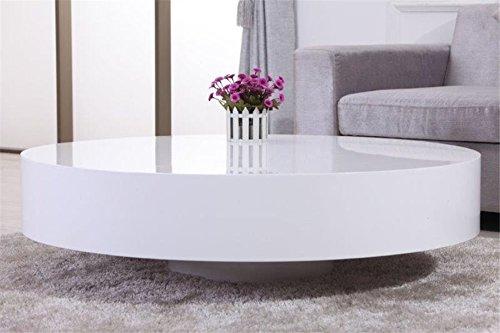 Table Basse Ronde Laquee.Chloe Design Table Basse Ronde Laquee Belius Blanc Amazon