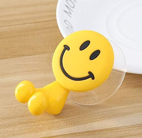 Accesorio de ba/ño para ni/ños Multifuncional Respetuoso con el Medio Ambiente con Ventosa Hpybest Emoji Soporte para Cepillo de Dientes con ventosas