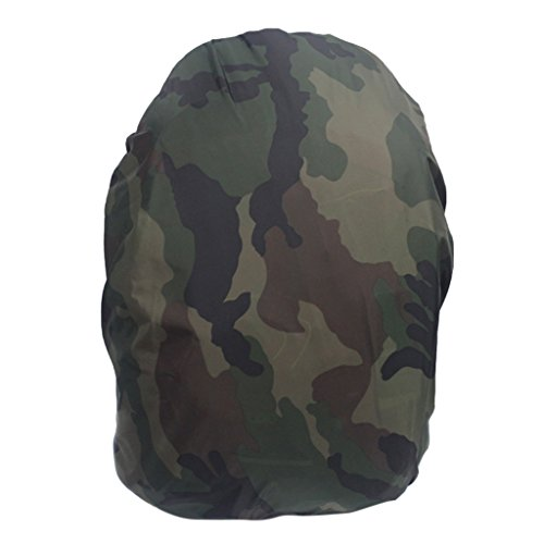 MagiDeal Travel Camping Hiking Camouflage Rucksack Backpack Bag Dust Waterproof Rain Cover Poncho - Camouflage