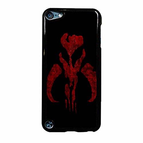 Boba Fett Symbol Mandalorian Mythosaur Skull iPod Touch 6 Case Cover (Nero Plastic)
