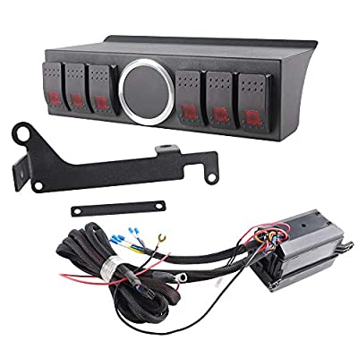 HOZAN 6-Rocker Switch Pod Power up 6 Accessories Toggle Panel with Fuse Relay Control Box for Jeep Wrangler JK 2010-2020: Automotive