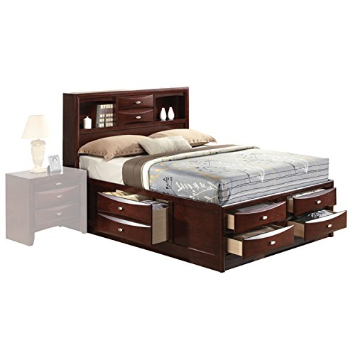 Acme Furniture 21590F Ireland Bed with Storage, Full, Espres