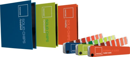 - Pantone Solid Chips Three-Book Set with Formula Guides