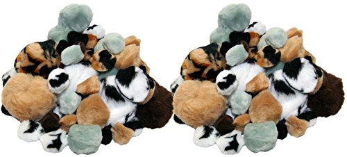 Set of 108 Soft Furry Pom Poms! 6 Assorted Animal Colors - 4 Assorted Sizes - Zebra Stripe, Tiger Stripe - Extra Soft - Perfect for Arts and Crafts, Scrapbooking and More! (108ct Pom Poms)