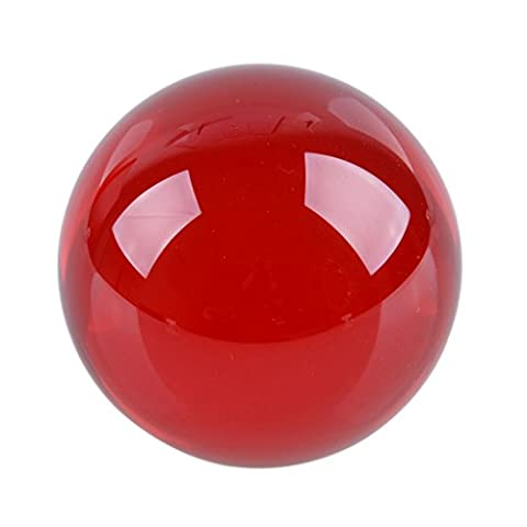 LONGWIN 40mm(1.6 inch) Fengshui Crystal Ball Healing Crystals(Red) (Solid Glass Ball)
