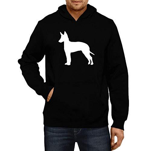 - Idakoos Manchester Terrier Silhouette Hoodie L Black