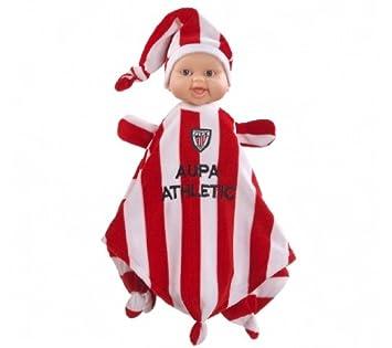 Paola Reina - Doudou Athletic Bilbao, muñeca bebé de vinilo, 34 cm (01291