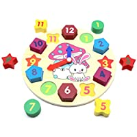"""""""Happiness in Games"""" Wooden Shape Sorting Clock 