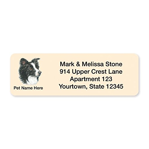 Border Collie Set of 215 Sheeted Address Labels