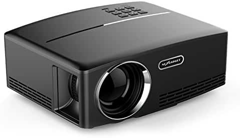 NEXGADGET Video Projector, GPower Series 1800 Lumens LCD Mini Projector, Multimedia Home Theater Video Projector Support 1080P HDMI USB SD Card VGA AV for Home Cinema Theater Video Games Movie Night