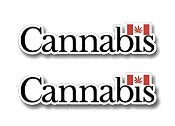Cannabis Canada Decal Stickers Canadian Marijuana Pot Leaf Flag - Vehicle stickers and decals