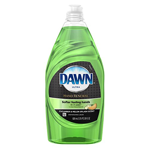 Green Dishwashing Liquid Soap - Dawn Ultra Hand Renewal Cucumber Melon Scented Dish Detergent ()