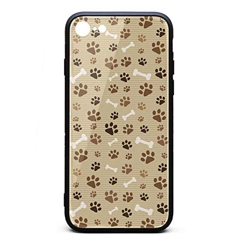 Dog paw Prints Striped Brown Bone i-Phone 6P/6SP Case Ultra-Thin Back Case Anti-Scratch for i-Phone 6PLUS/6SPLUS