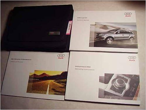 audi q7 owners manual 2009