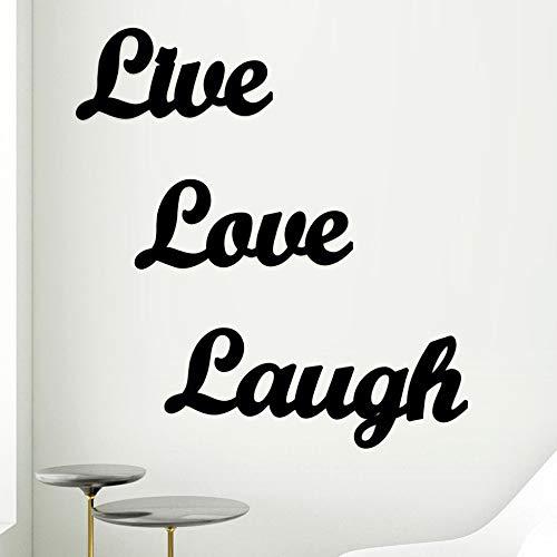 AJANTA ROYAL Live Love Laugh MDF Plaque Cutout Ready to Hang Home Décor Wall Art